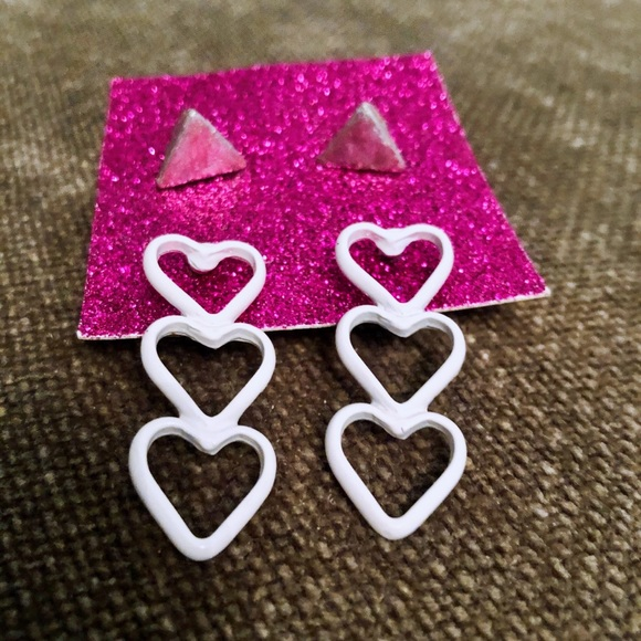 Hearts and Studs Earring Set